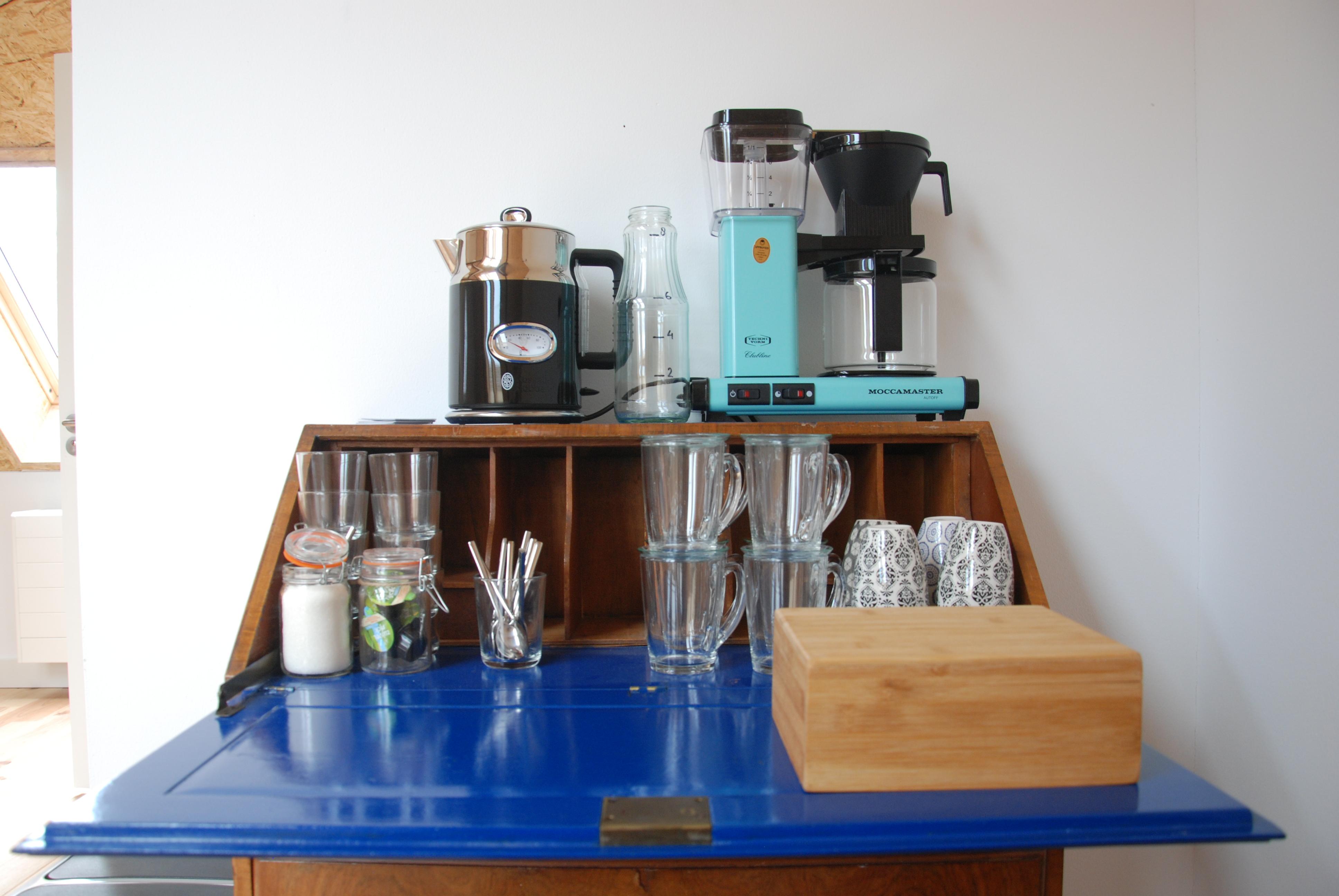 koffie en thee is altijd inbegrepen bij de huur van onze ruimtes